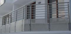 Railings with sheet sheets metal, stainless steel