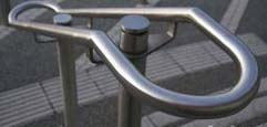 Staircase handrail attached to one baluster post