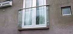 Franch balcony with safety glass