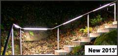 Balustrades, handrails, railings illuminated LED